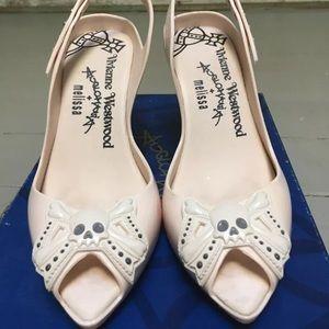Vivienne Westwood Melissa Lady Dragon Skull Shoes